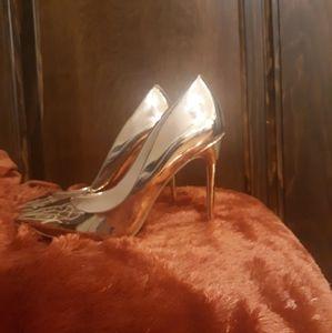 Aldo, Rose Gold Metallic Heels